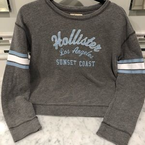 Hollister Baby Blue / White / Gray Sweatshirt